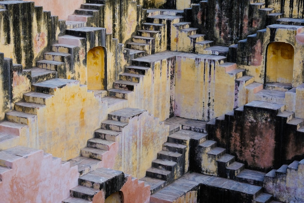 multicolored stair painting