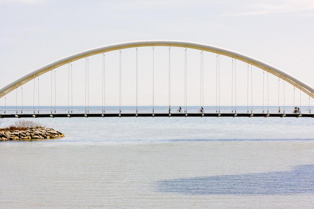 gray bridge above the ocean