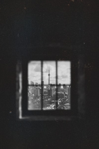 grayscale photograph of Space Needle, USA