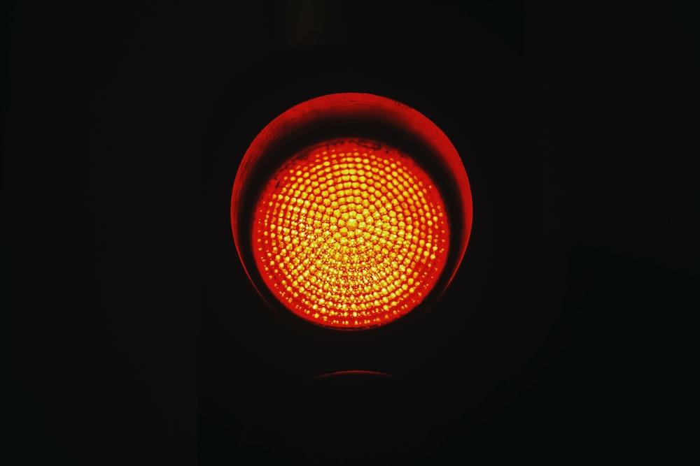 traffic light in red