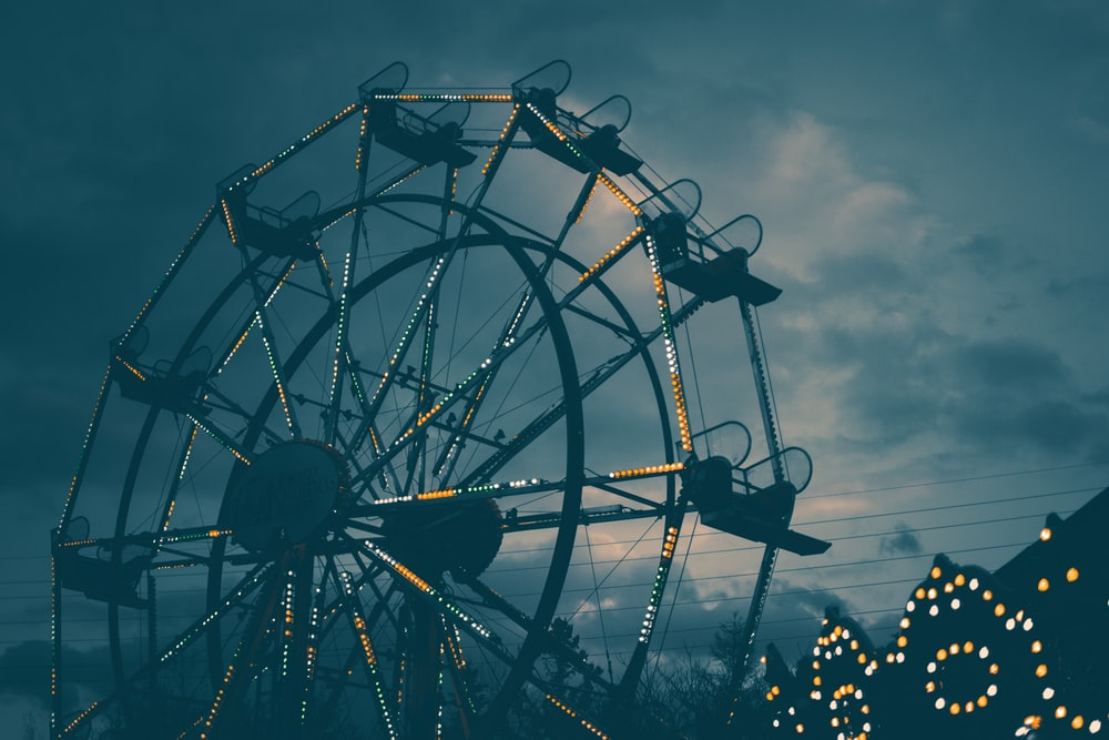 landscape photography of carousel