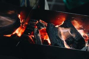 burned charcoals