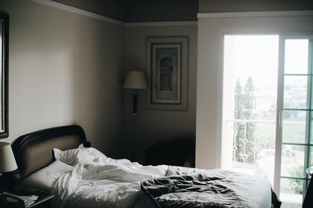 white bedsheet