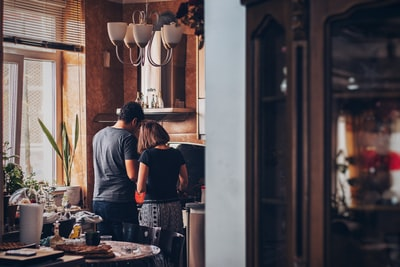 Here is my friends house. People woke up and these two were preparing breakfast. This scene is so crowded I just waited for the right moment so that people were hidden behind the wall and no one was passing by.