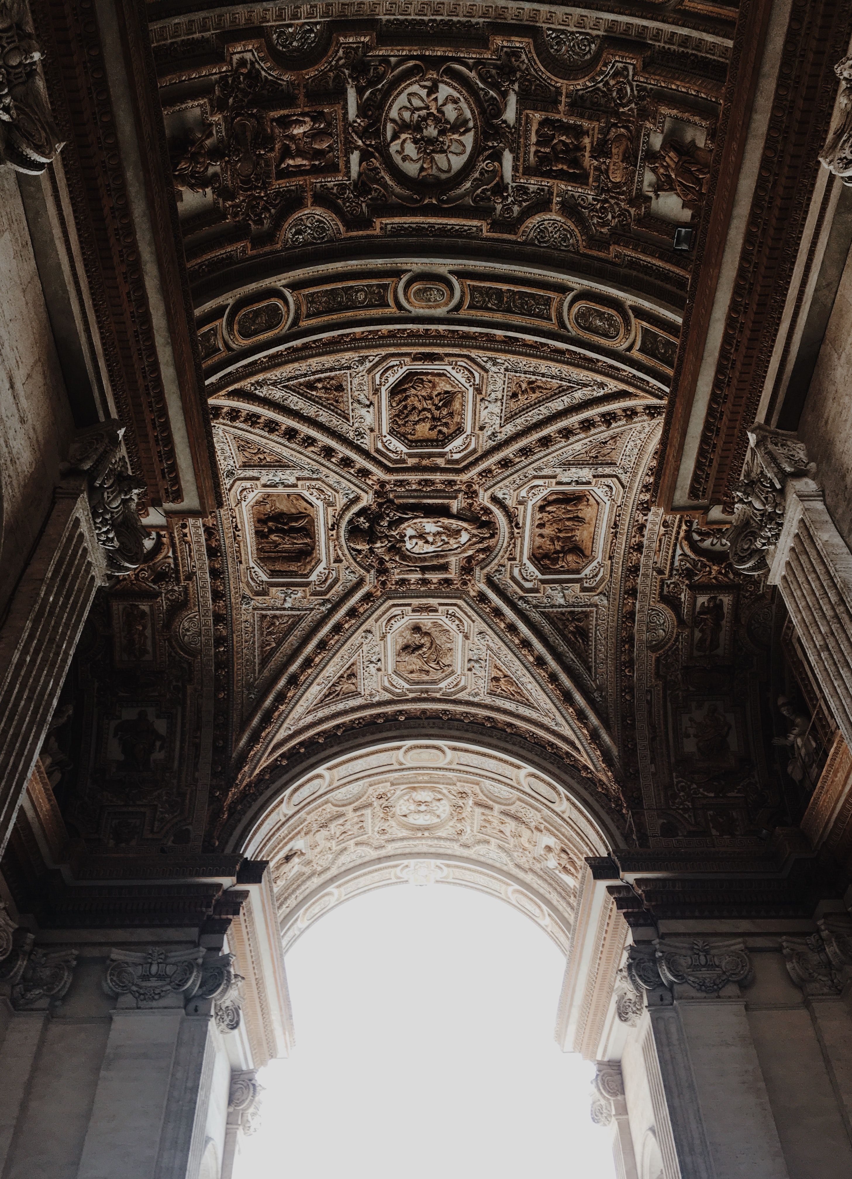 architectural photo of arched ceiling