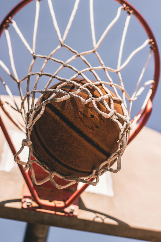 basketball on ring