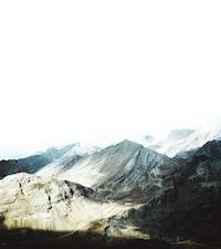 bird's eye view photo of alp mountains
