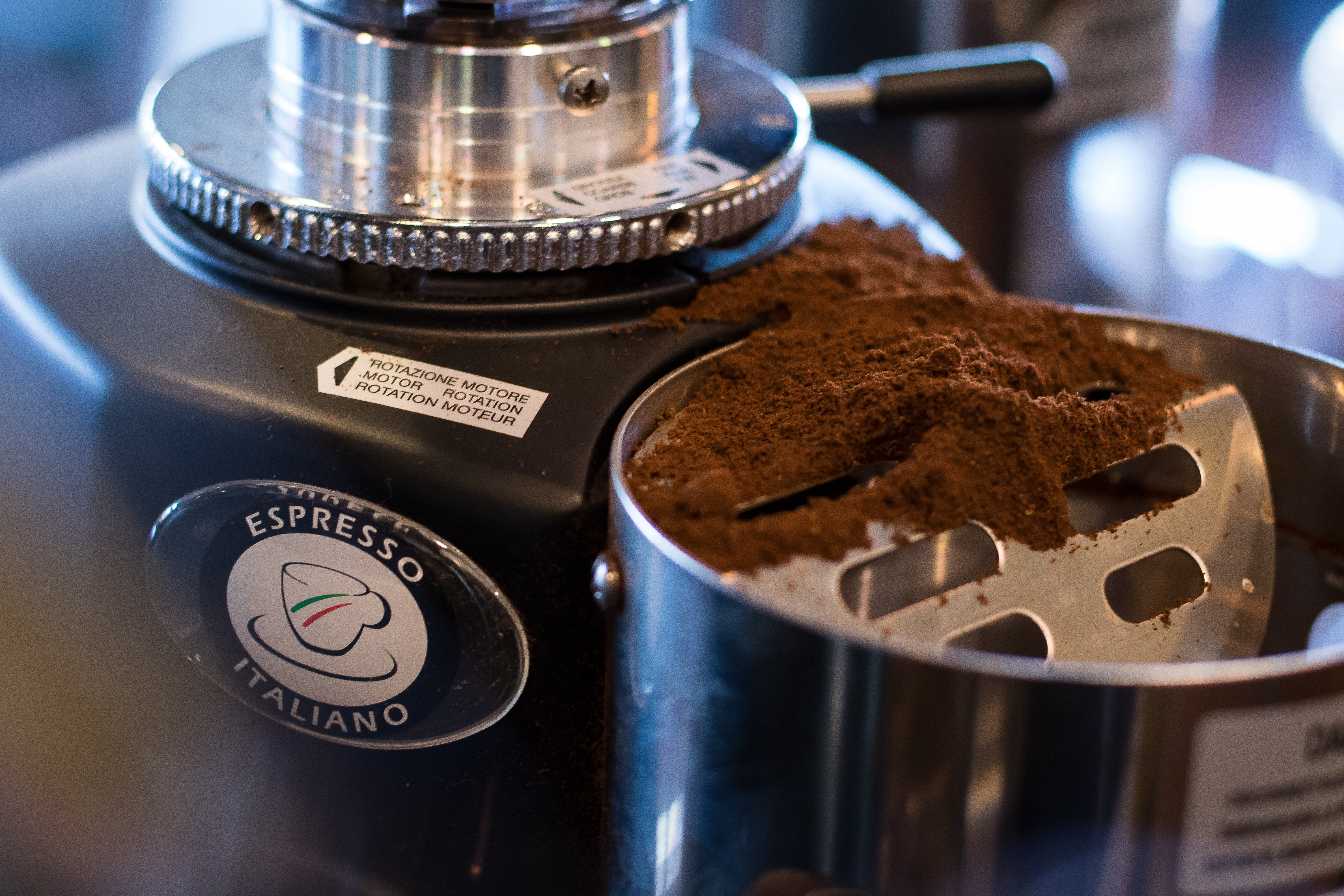 coffee powder in espresso maker