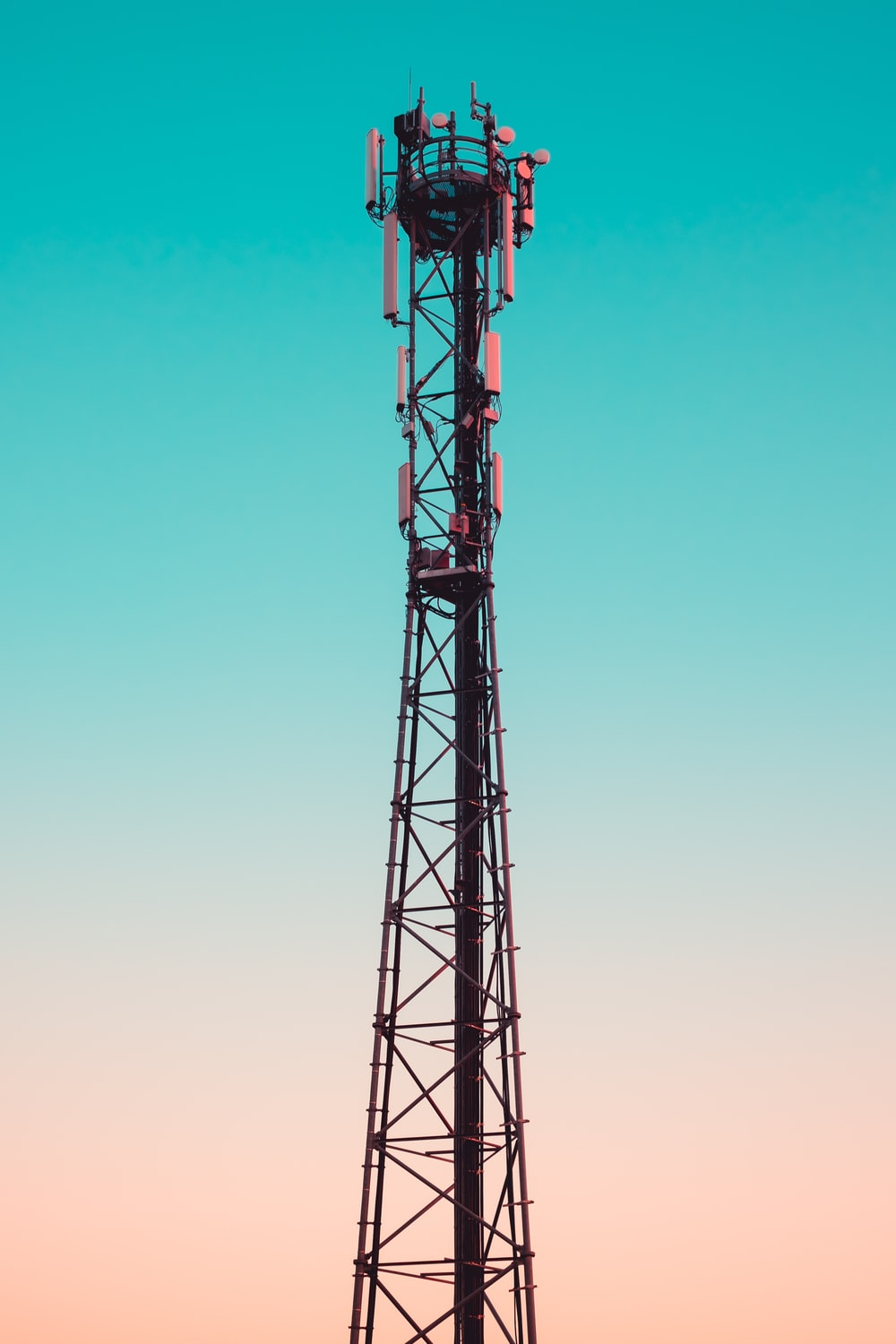 photography of utility tower