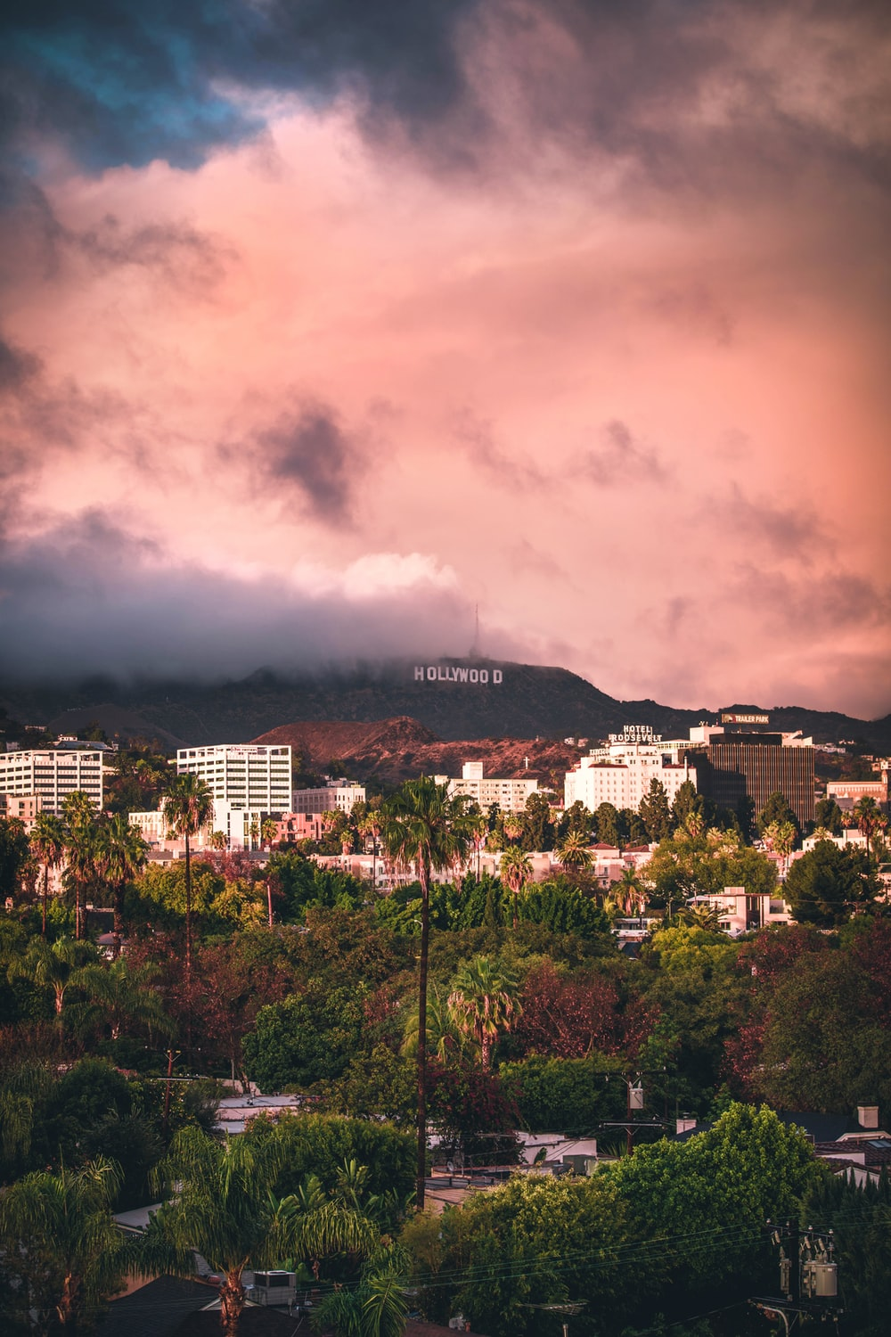 Hollywood sign from Los Angeles