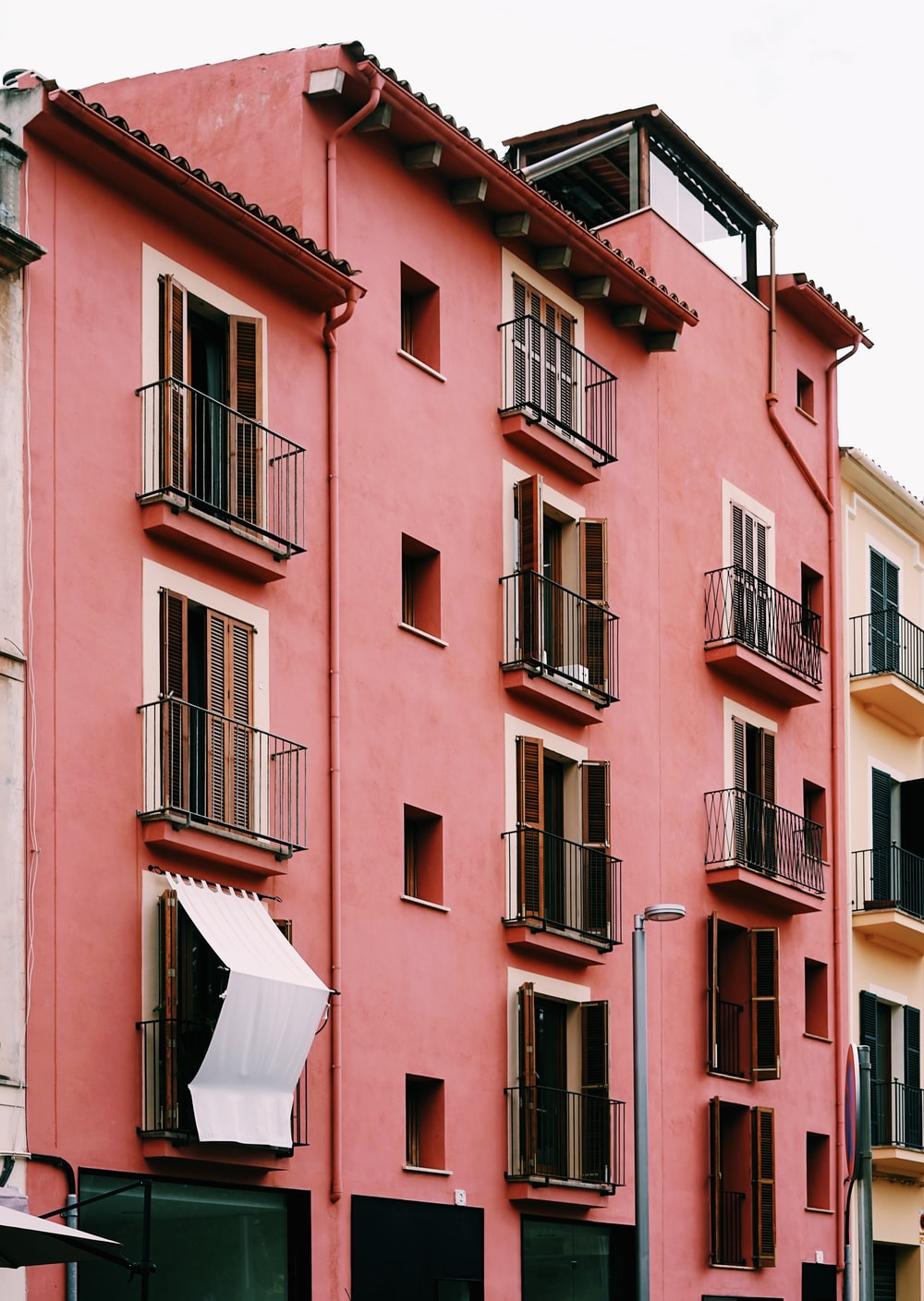 pink painted aparment