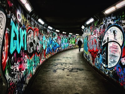 I happened to take this on my way to the Post Office in Belfast and decided to take the underpass for safety.  I just loved the feel of it and the guy walking added to the atmosphere.The colours really popped when I ran it through Lightroom - HOWEVER this pic was taken with my trusty old iPhone 6 Plus and despite having full frame Nikon cameras and great glass at my disposal this phone still astounds me with the onboard camera.  They say the best camera is the one you have with you and the 6 plus is always with me.