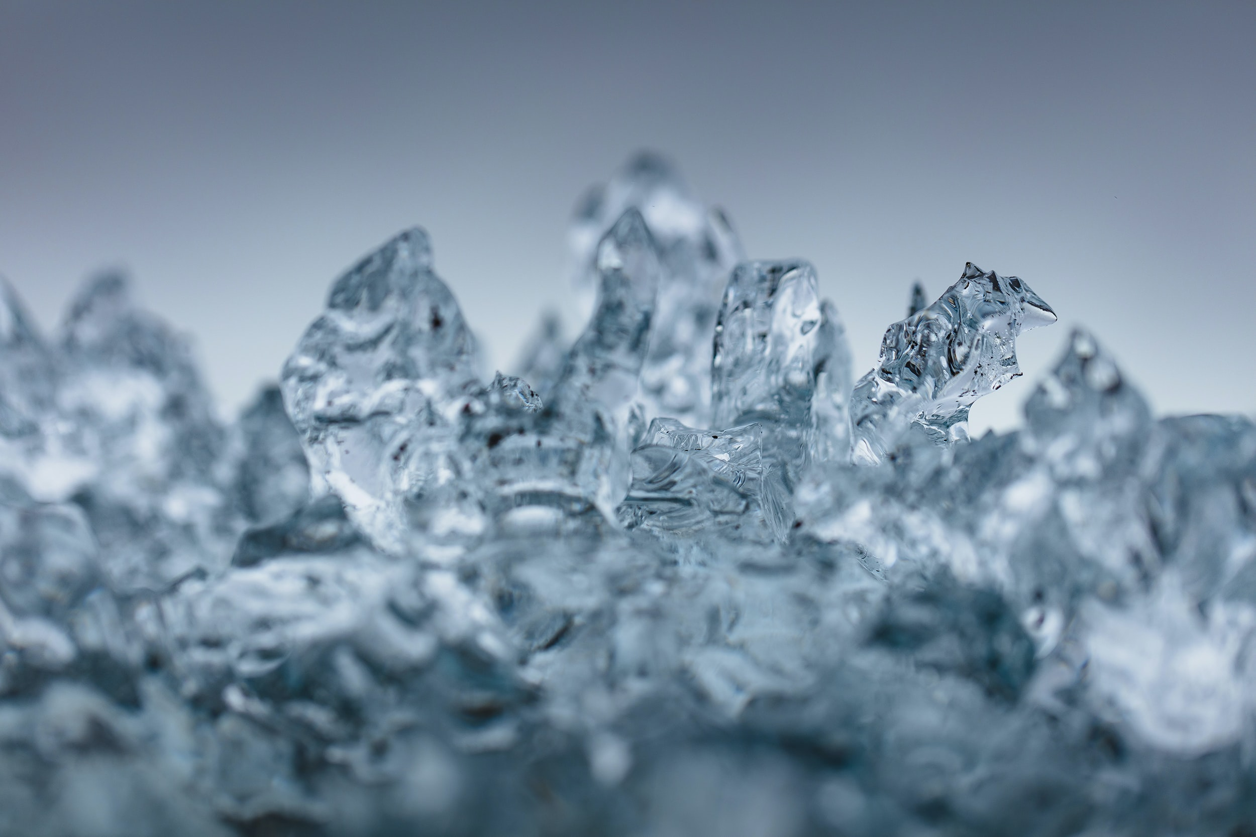 shallow focus photography of ice melting