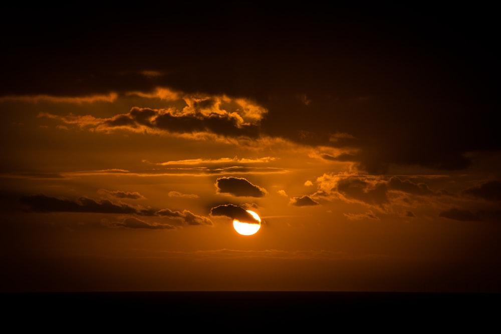 sun under golden hour