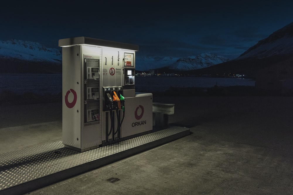 white Orcan fuel station