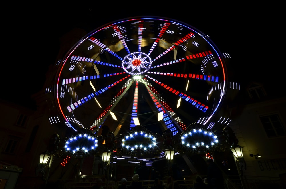 LED ferris wheel at daytime
