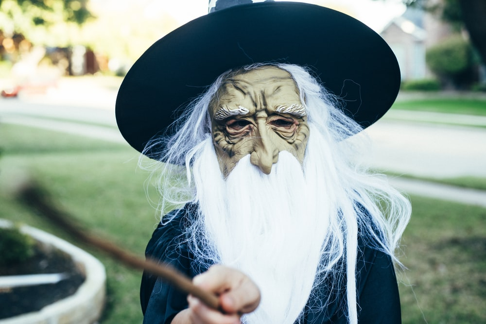 person wearing witch costume