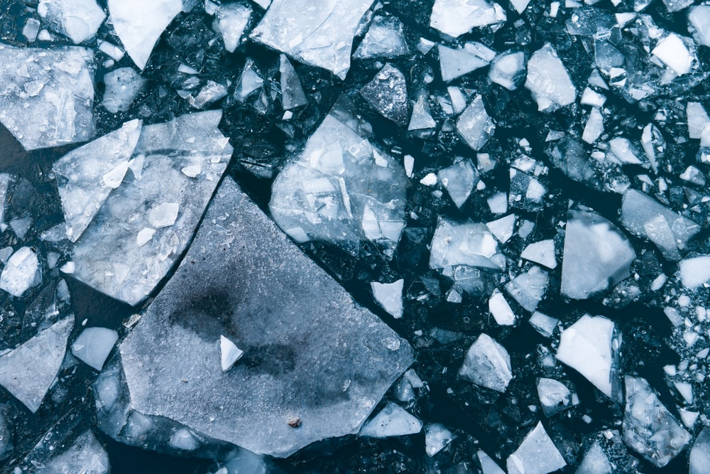 broken tiles on road