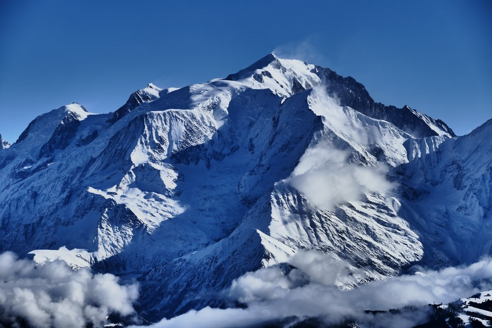 mountain covered with snow during daytime photography