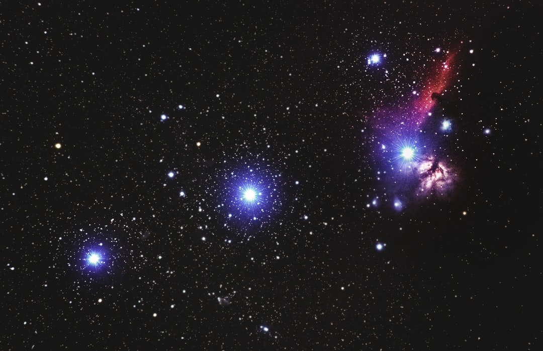 flame and horsehead nebular in Orians belt