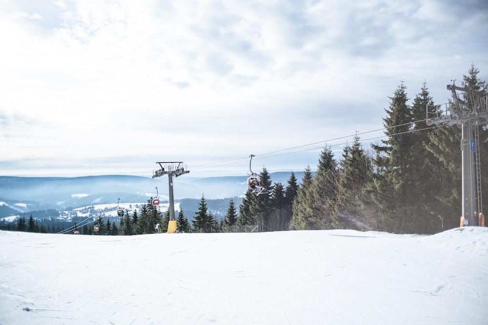 ski lift crossing mountains