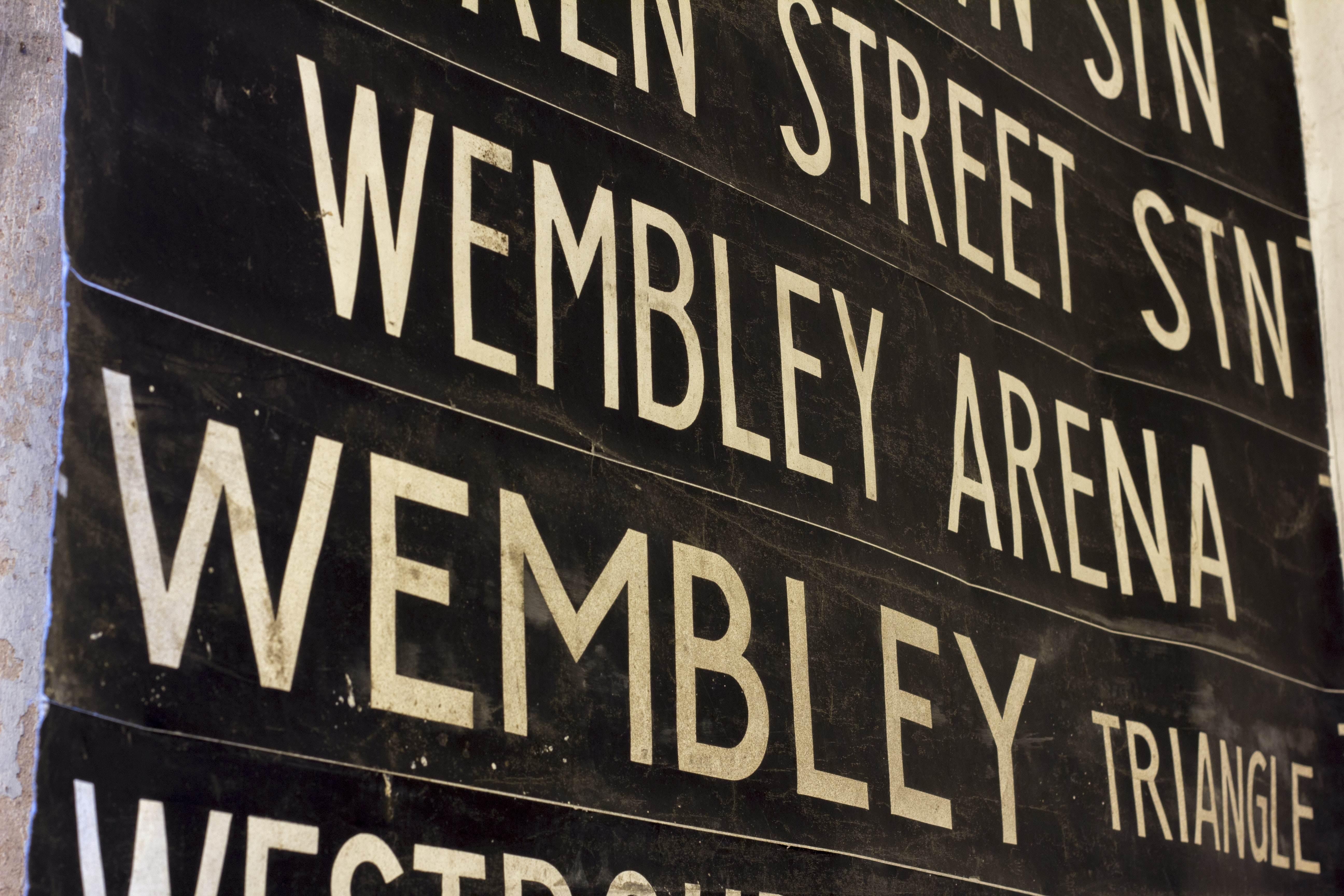 Wembley signages