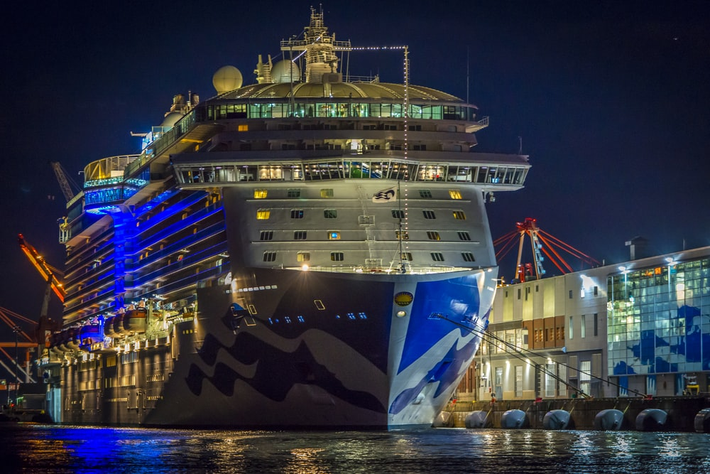 cruise ship dock on pier