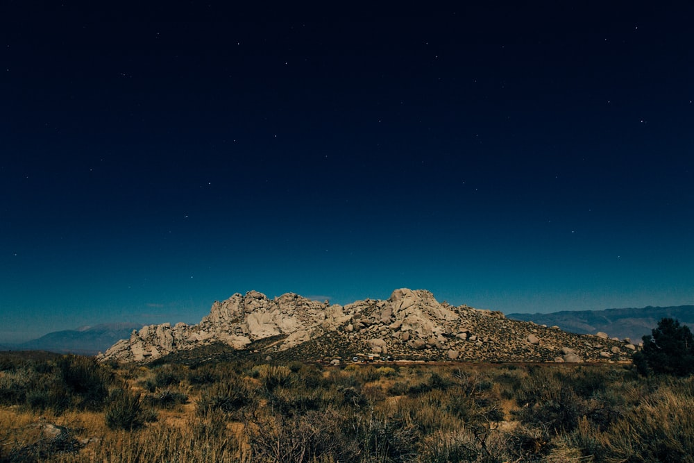landscape photography of rock formations