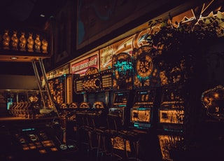 multicolored arcade machines