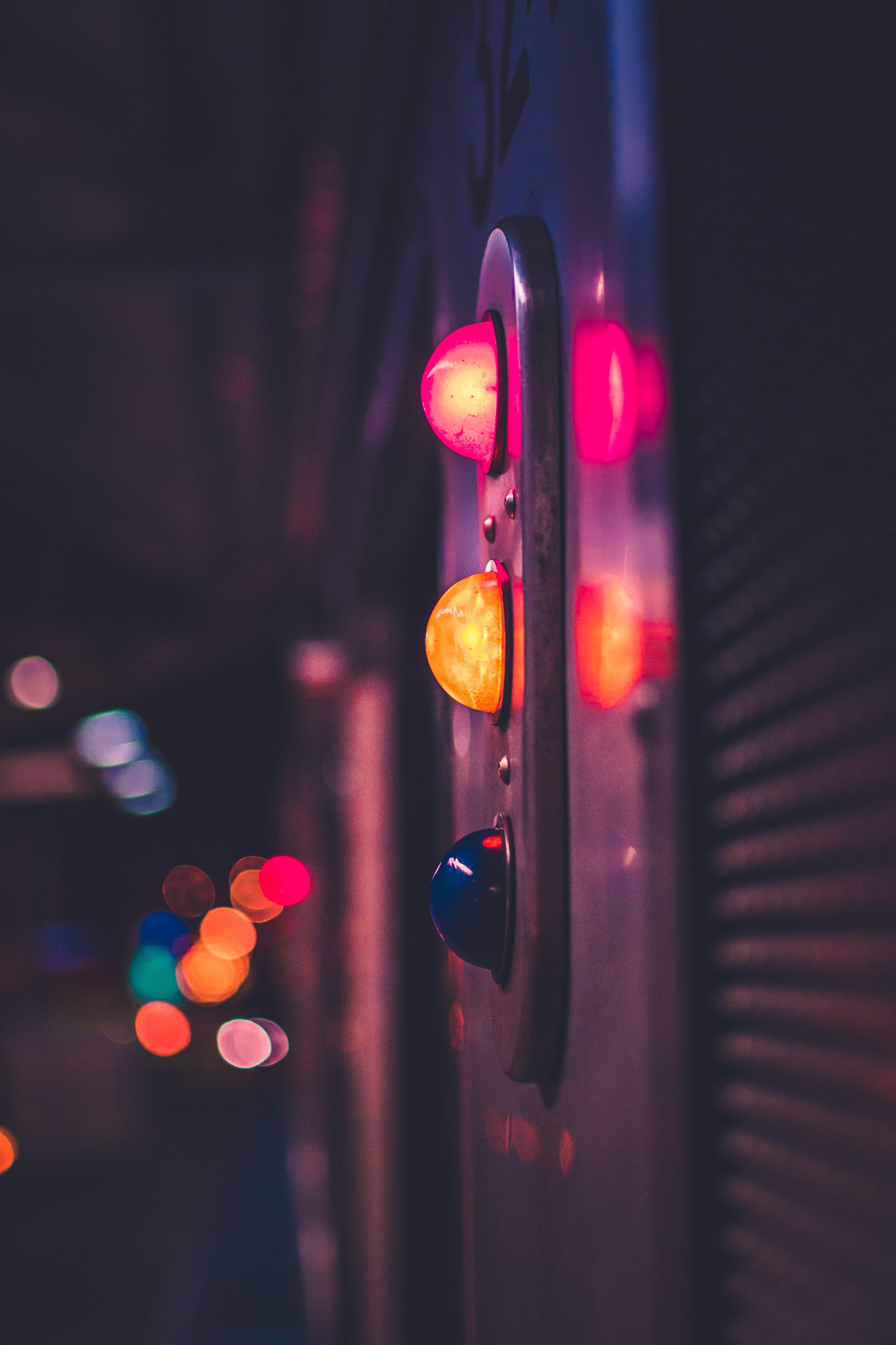 selective focus photography of traffic lights