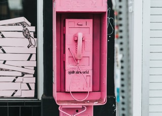 red A drainworld telephone