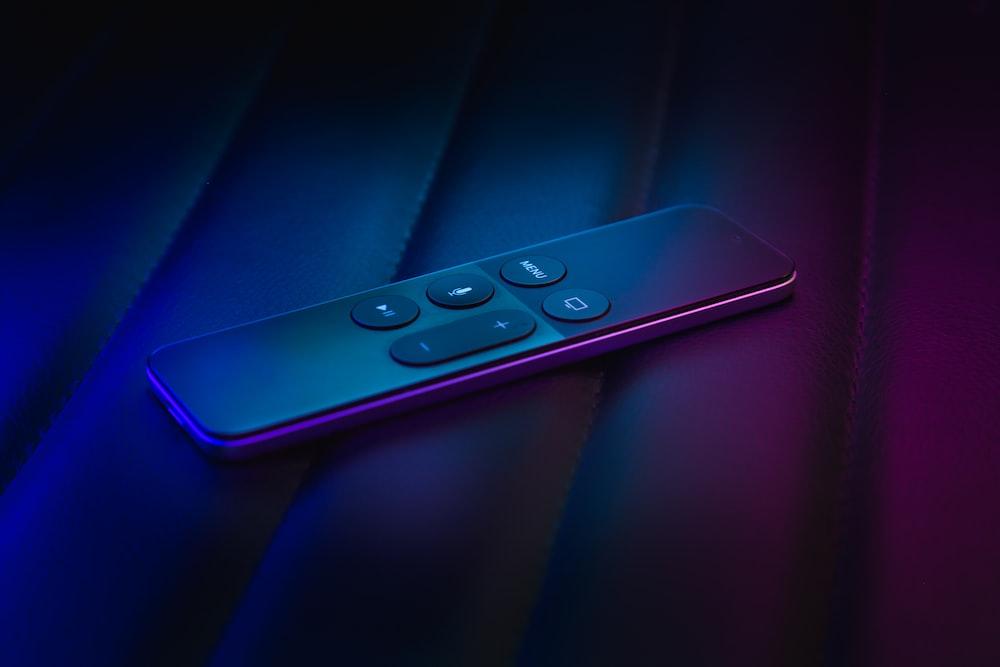 black remote controller