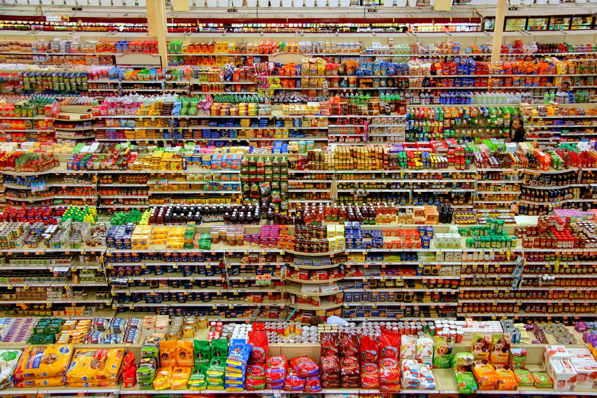 This is an aerial shot of the groceries section of the Fred Meyer superstore in Redmond, WA. I took this picture while on vacation in the Pacific northwest. I had seen a similar picture of a Fred Meyer store in Portland, OR and hear that this store had a publicly accessible vantage for taking an aerial photograph. I took the shot in HDR mode and used Photomatix to produce the finished image.