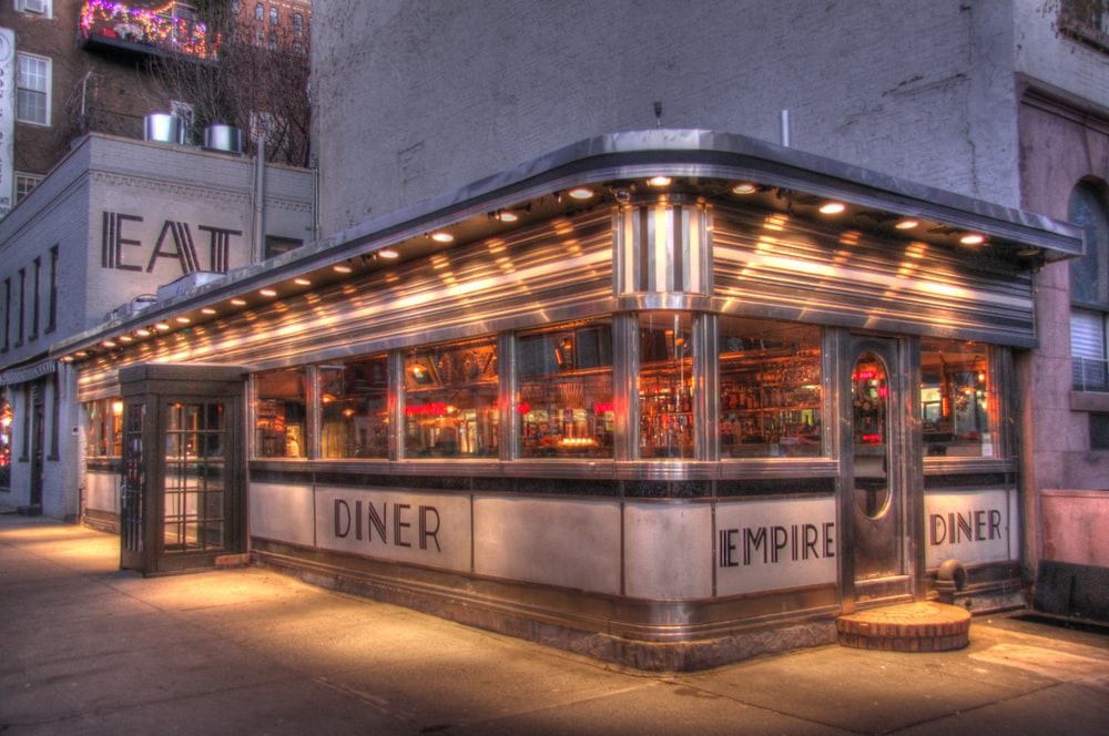 architectural photography of Empire diner