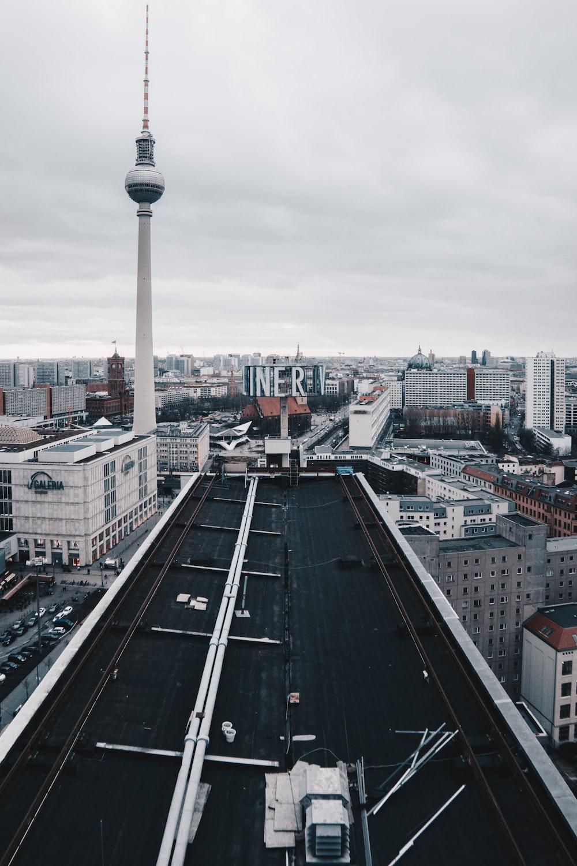 high angle photo of city buildings