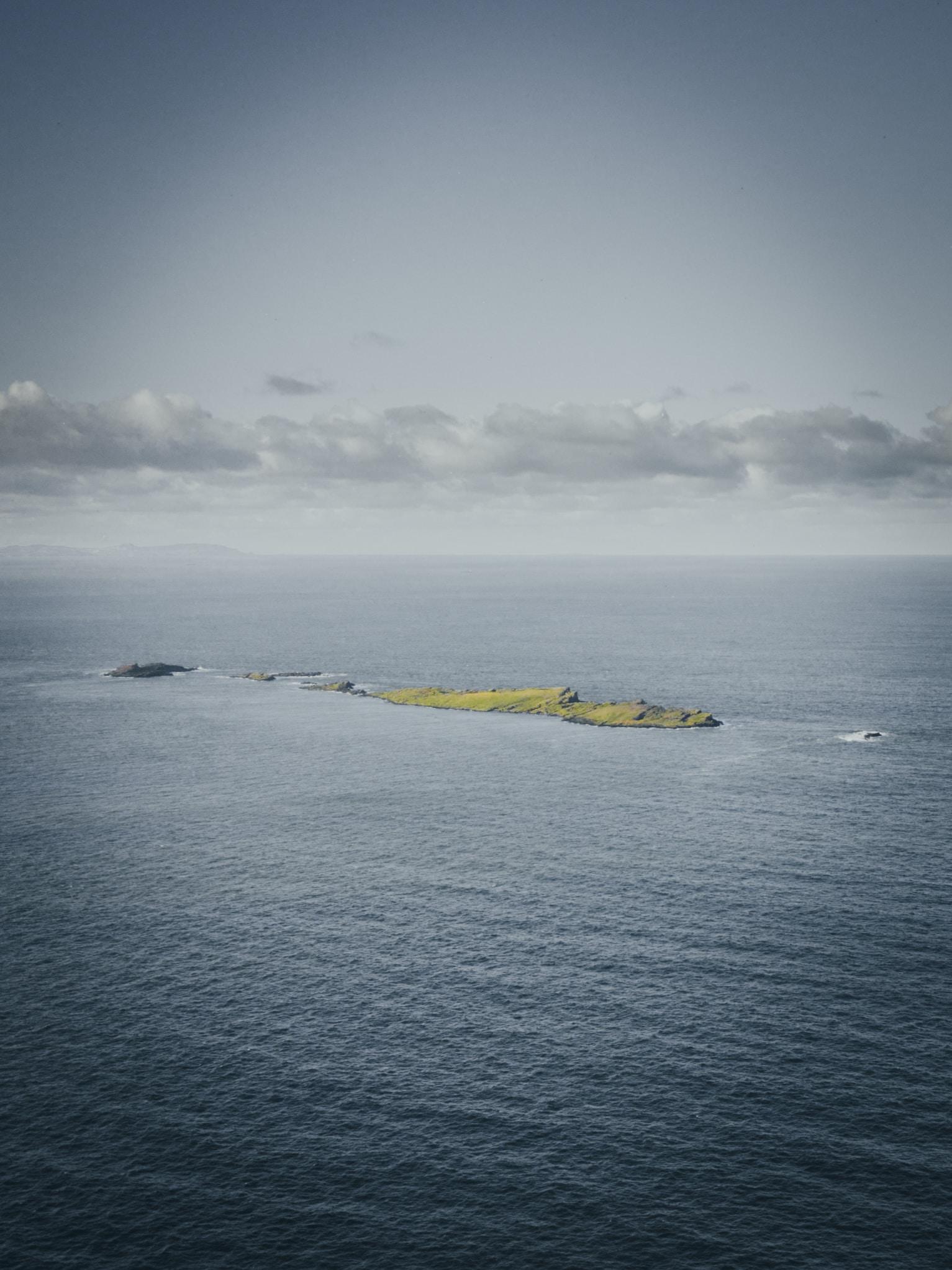 boat near island