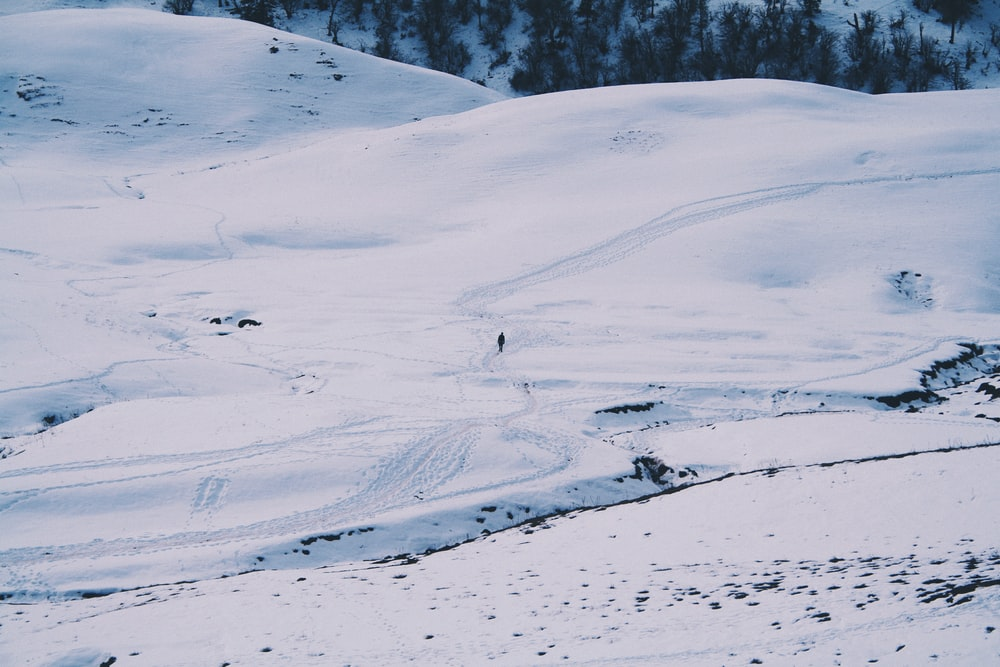 person on snow field