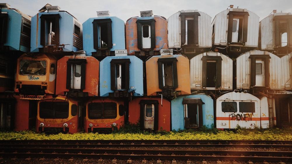 train wagon near train rail