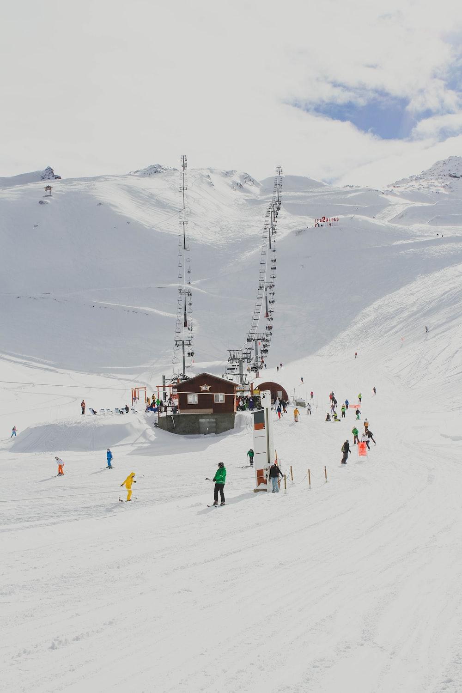 photo of people skiing on mountain