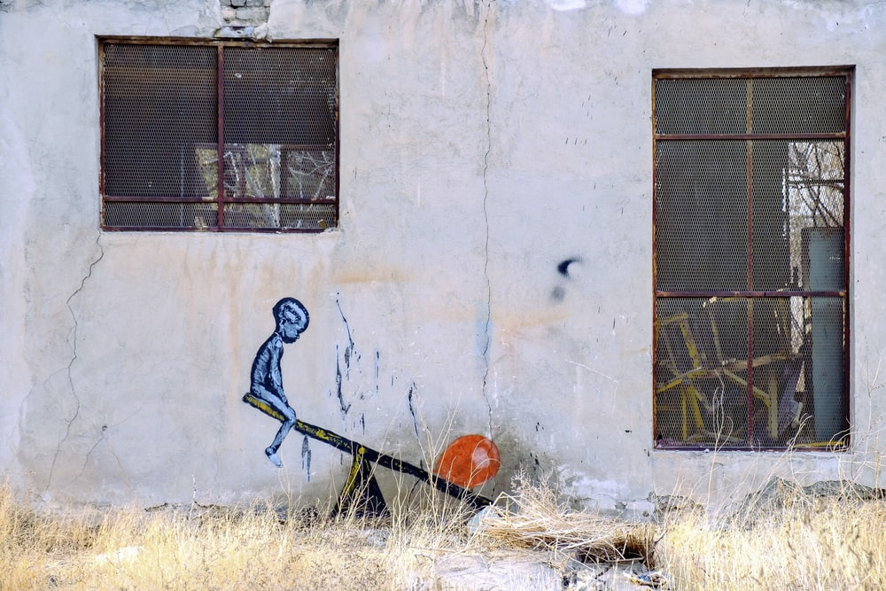 seesaw wall painting