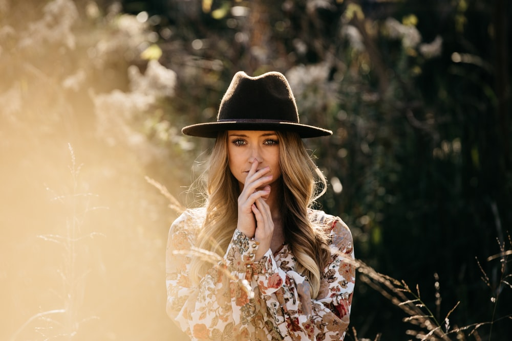 woman wearing black hat during daytime