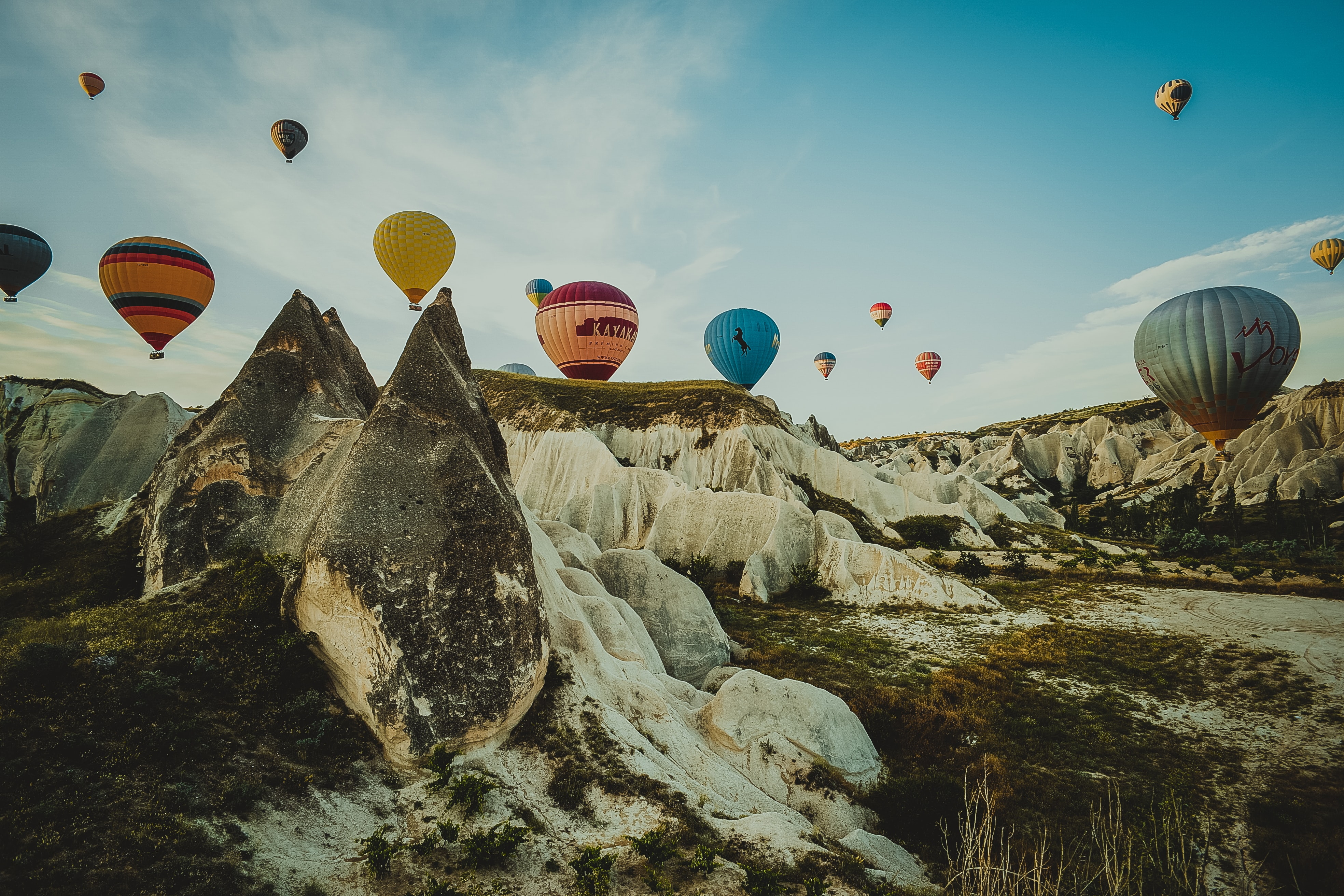 assorted hot air balloon in flight during daytime