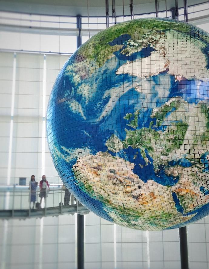A huge globe