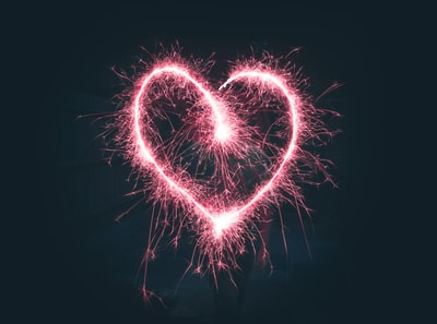 heart shaped pink sparklers photography valentine's day zoom background