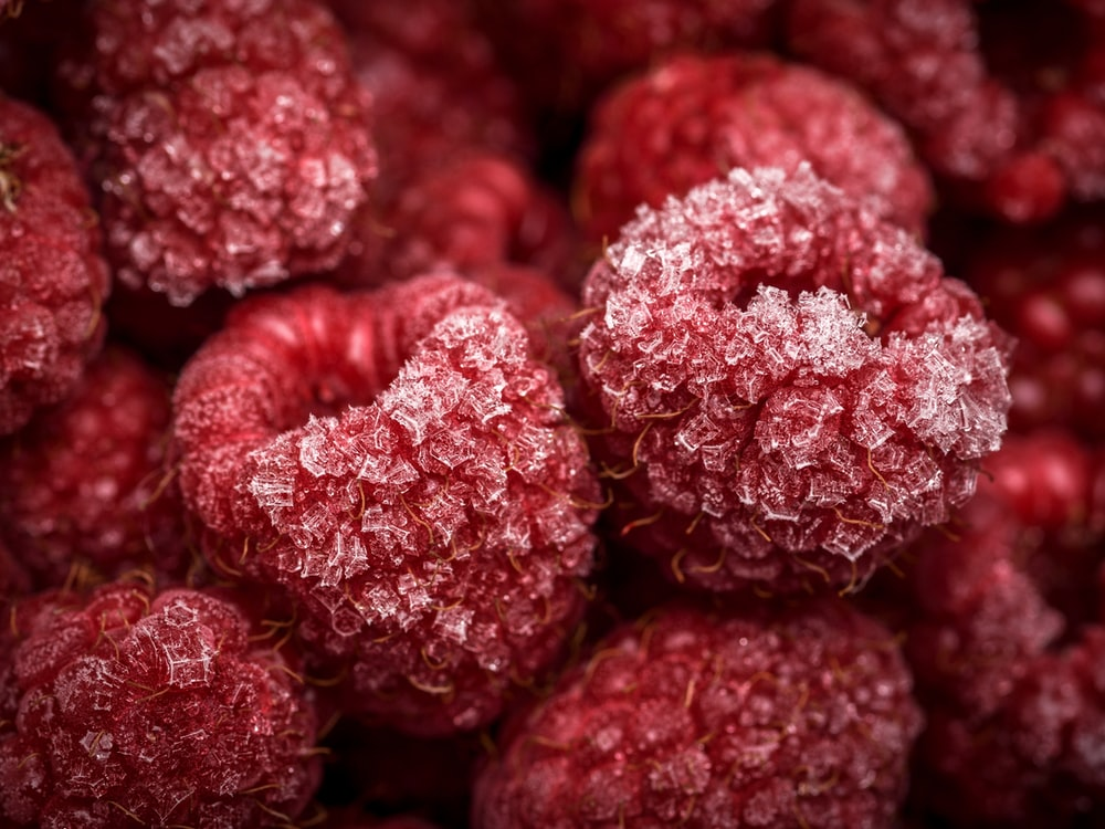 close-up photo of red fruits