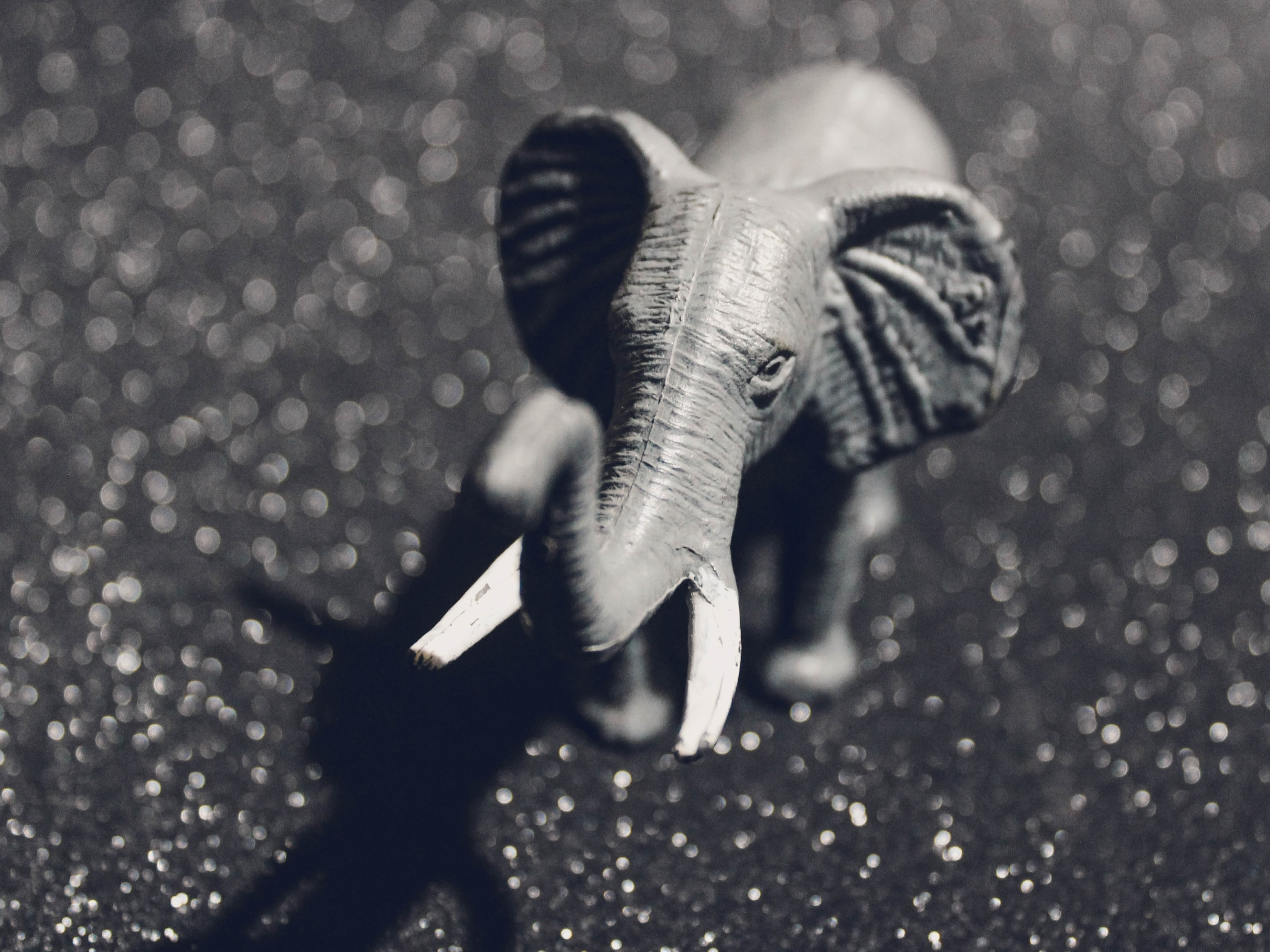 gray elephant figurine