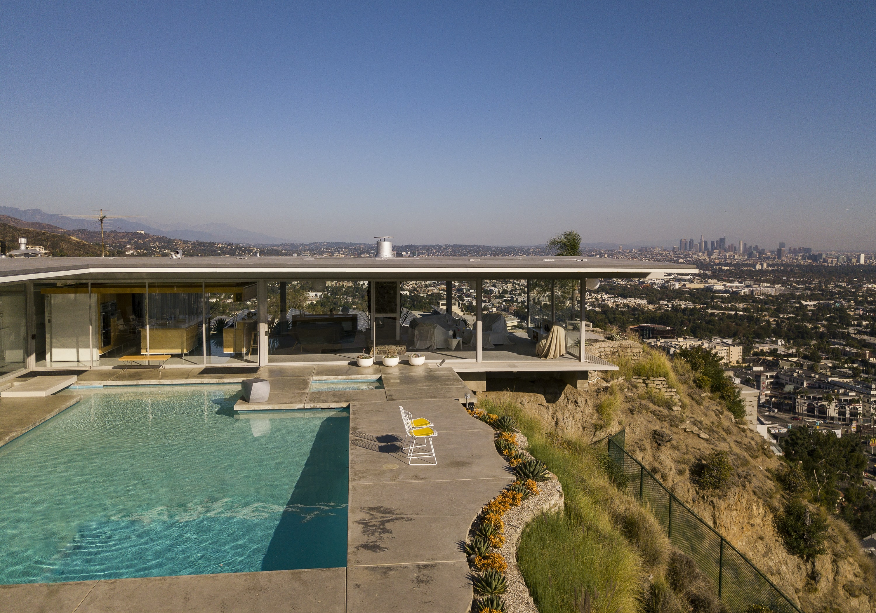 swimming pool on roof