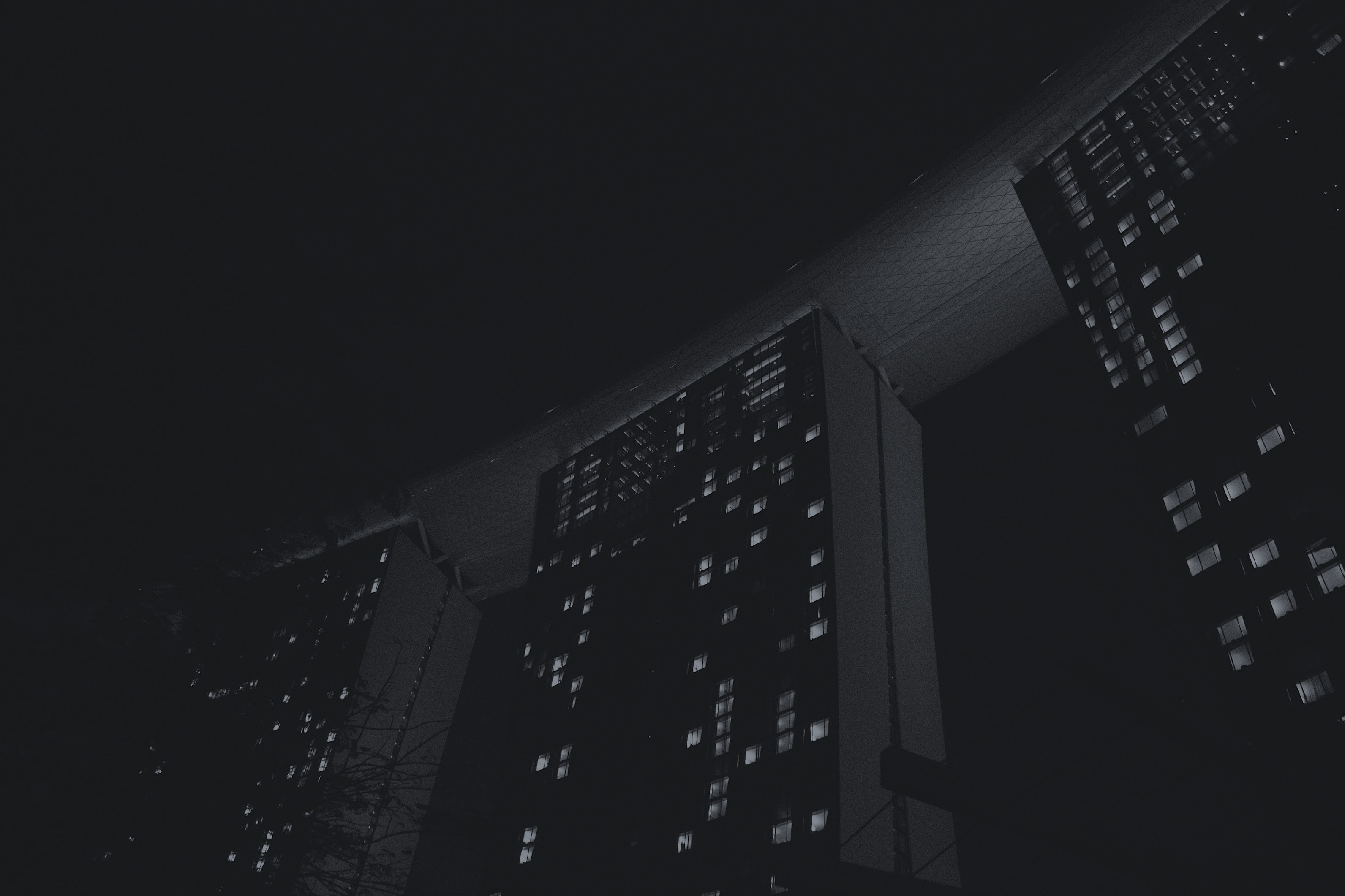 lowlight photography of high-rise buildings