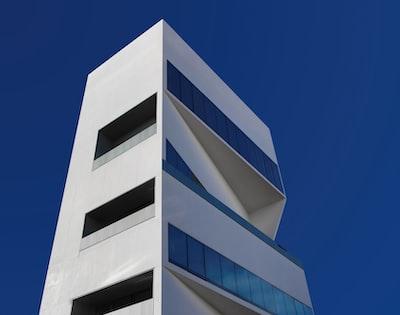 white concrete building modern teams background