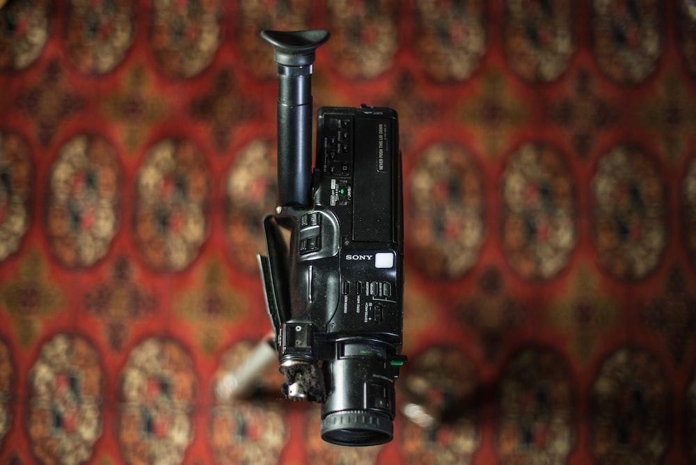 black camcorder
